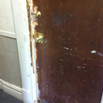 Resident doors were damaged